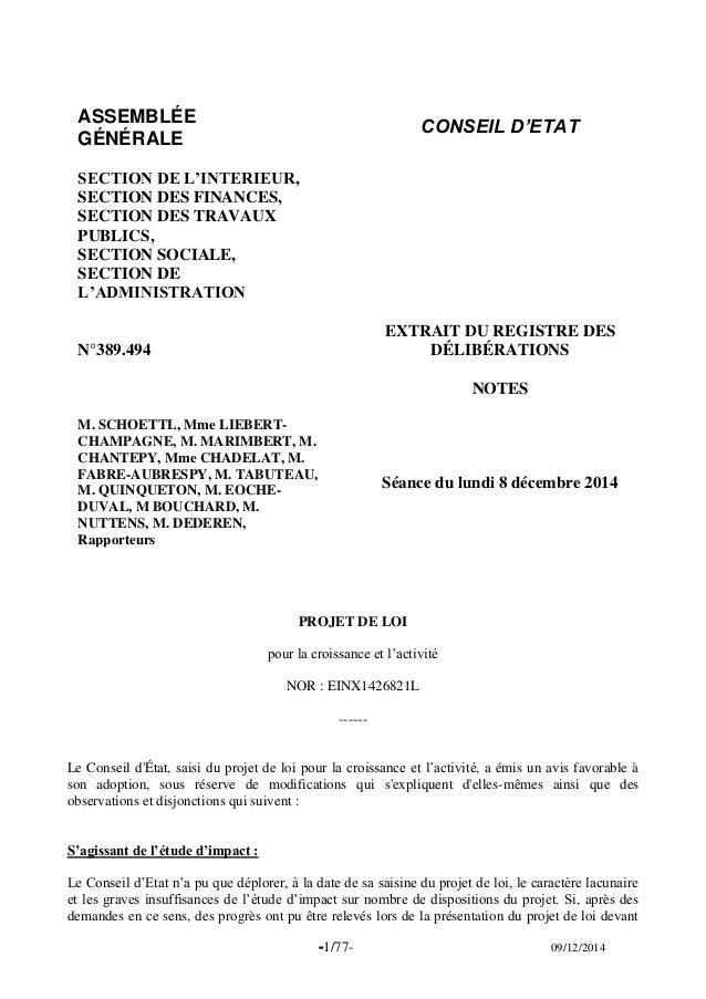 -1/77- 09/12/2014  ASSEMBLÉE  GÉNÉRALE  CONSEIL D'ETAT  SECTION DE L'INTERIEUR,  SECTION DES FINANCES, SECTION DES TRAVAUX...