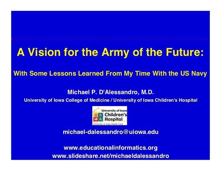 A Vision For The Army Of The Future