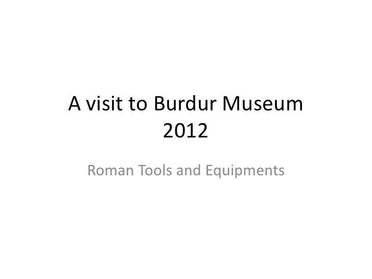 A visit to burdur city museum