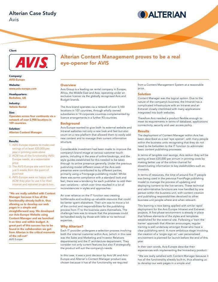 management case study websites
