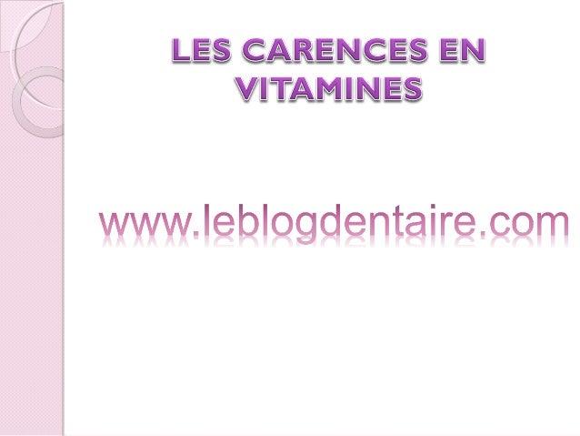 PLAN: Introduction-Définition B. les fonctions des vitamines C. les maladies observées lors de carence en vitamine 1. La...