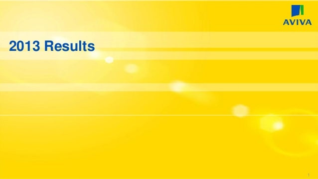 Aviva 2013 Preliminary Results Presentation