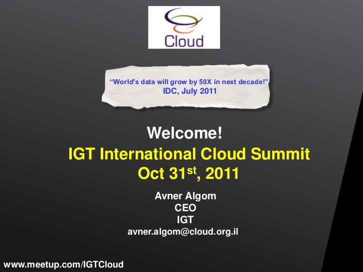 Avner allgom IGT-DLD International event