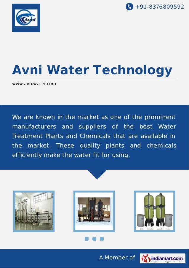 +91-8376809592 A Member of Avni Water Technology www.avniwater.com We are known in the market as one of the prominent manu...