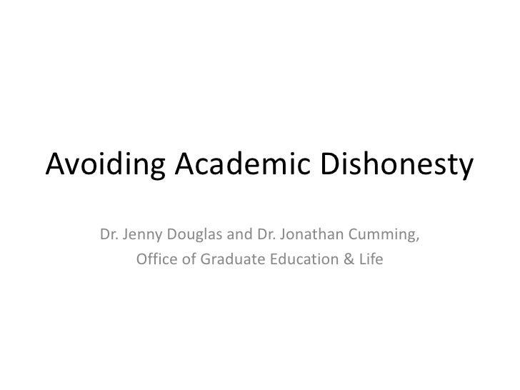 Avoiding Academic Dishonesty