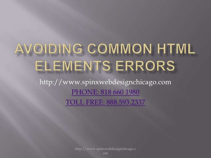 Most Common Html Element Mistake by Experience Web Designers