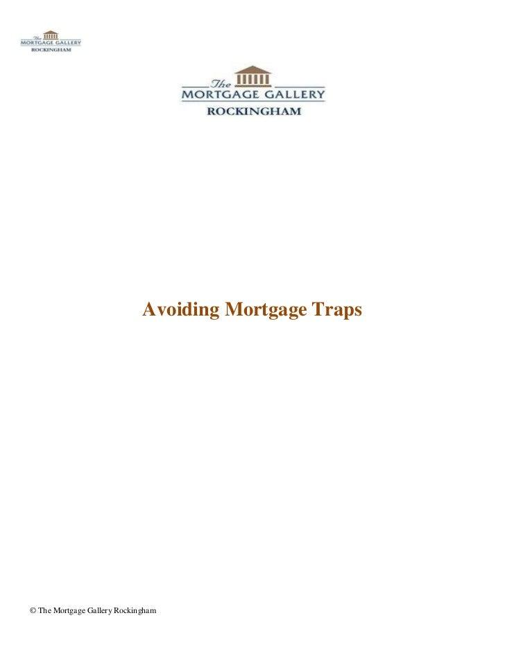 Avoiding Mortgage Traps
