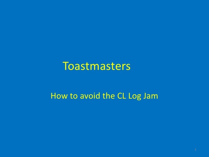 Avoiding the cl log jam withsound