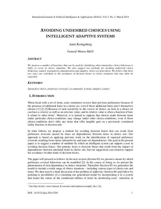 International Journal of Artificial Intelligence & Applications (IJAIA), Vol. 5, No. 2, March 2014 DOI : 10.5121/ijaia.201...