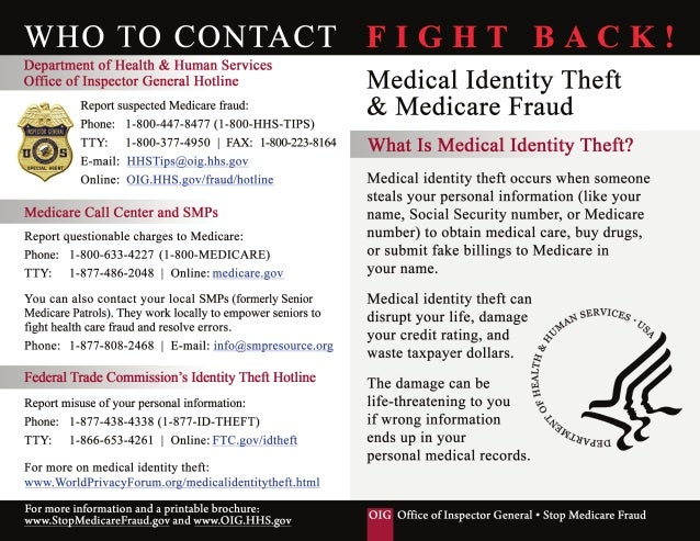 Avoid Medical ID Theft - Office of Inspector General