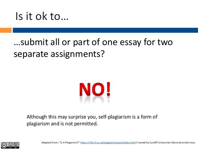 Is submitting the same essay for two different classes plagiarism?