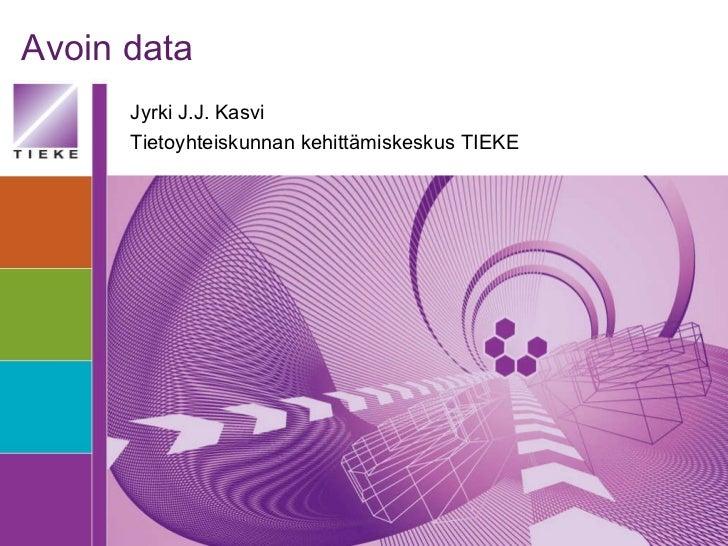 Avoin data