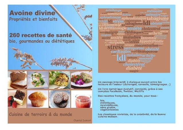 Infographie du livre numérique Avoine divine, 260 recettes de santé bio, gourmandes ou diététiques