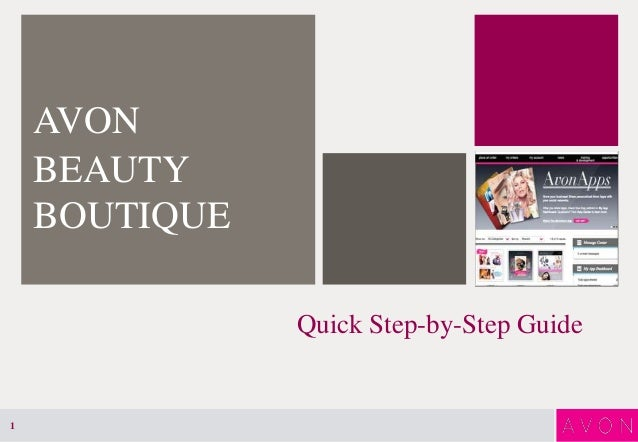 Quick Step-by-Step GuideAVONBEAUTYBOUTIQUE1