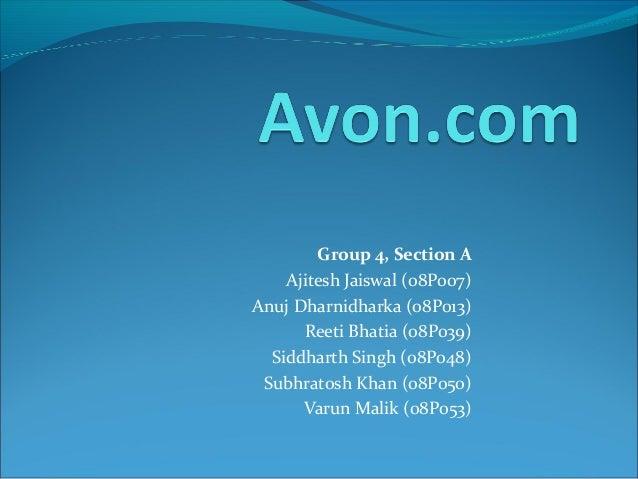 Group 4, Section A Ajitesh Jaiswal (08P007) Anuj Dharnidharka (08P013) Reeti Bhatia (08P039) Siddharth Singh (08P048) Subh...