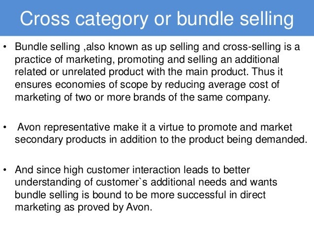 avon marketing strategy Decide how to market your product or service to potential customers by  developing a marketing strategy that positions your product to particular  customers.