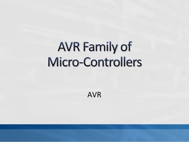 AVR Fundamentals