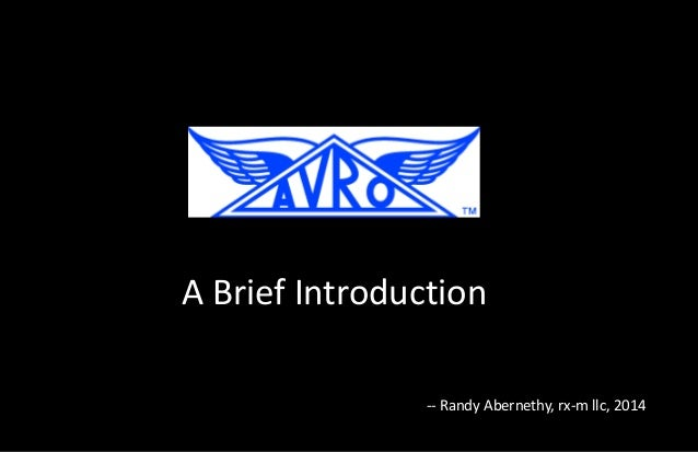 A Brief Introduction -- Randy Abernethy, rx-m llc, 2014