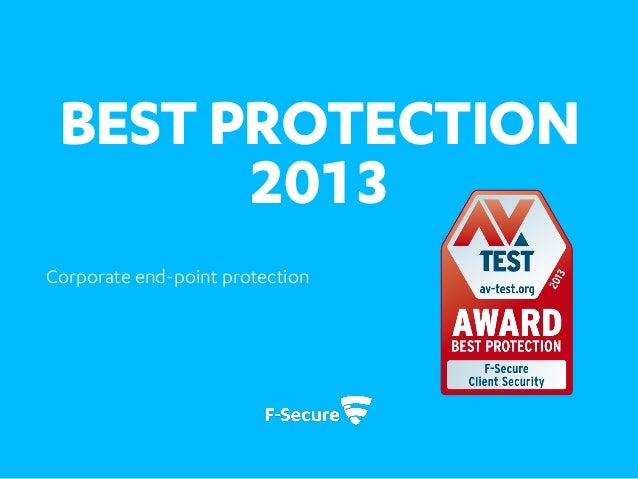 Best corporate end-point protection 2013
