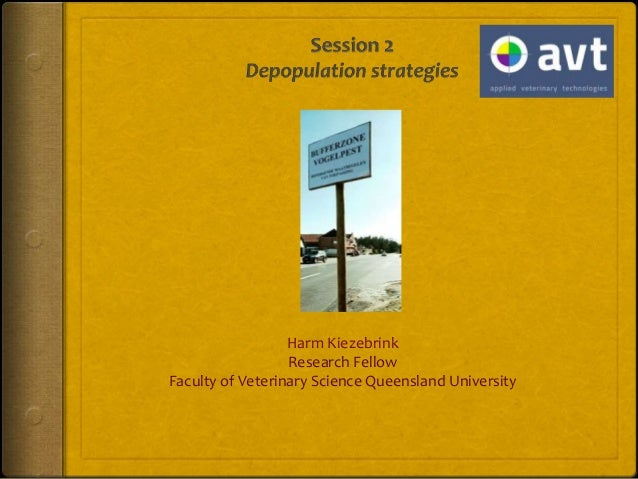 AVT session 2: Depopulation Strategies