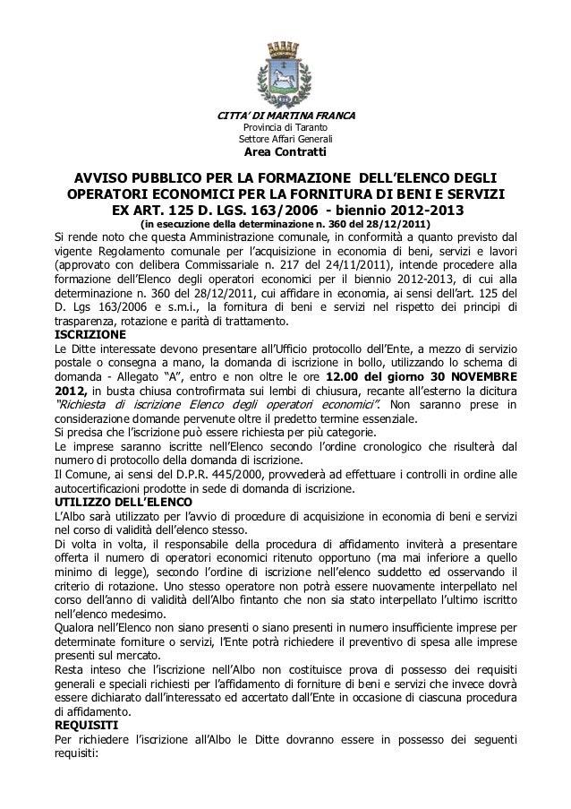 CITTA' DI MARTINA FRANCA                                      Provincia di Taranto                                     Set...
