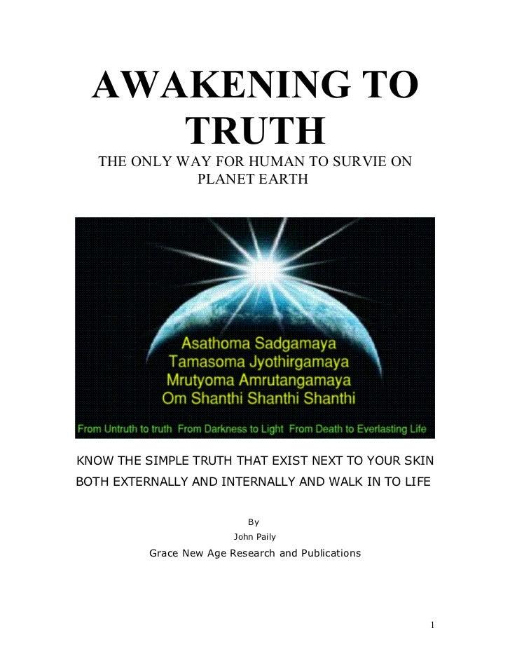 Awakening To Truth of Nature and Life