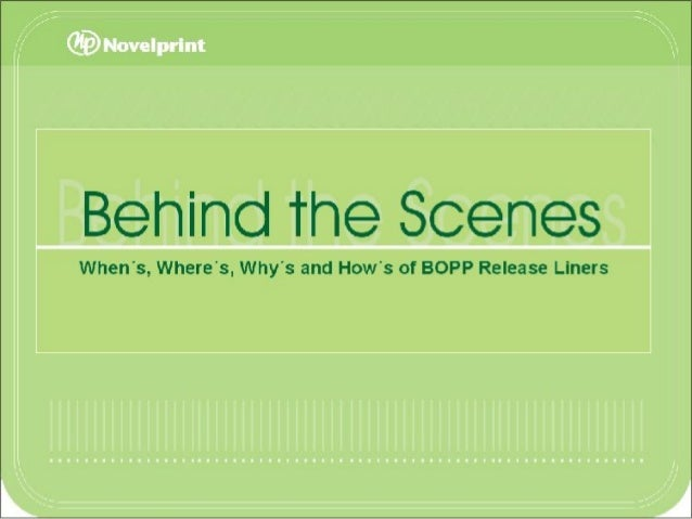 From the 1970's until now BOPP Release Liners Novelprint's R&D division at our plant in Brazil Import Restrictions = We ha...
