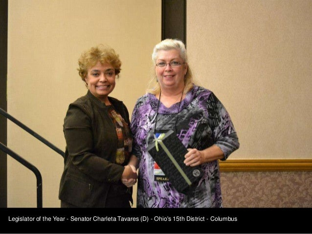 Legislator of the Year - Senator Charleta Tavares (D) - Ohios 15th District - Columbus