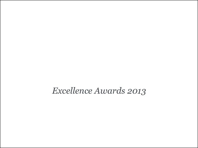 Excellence Awards 2013