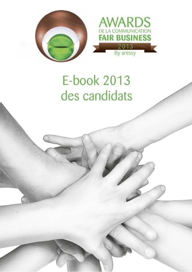 e-book 2013 des candidats