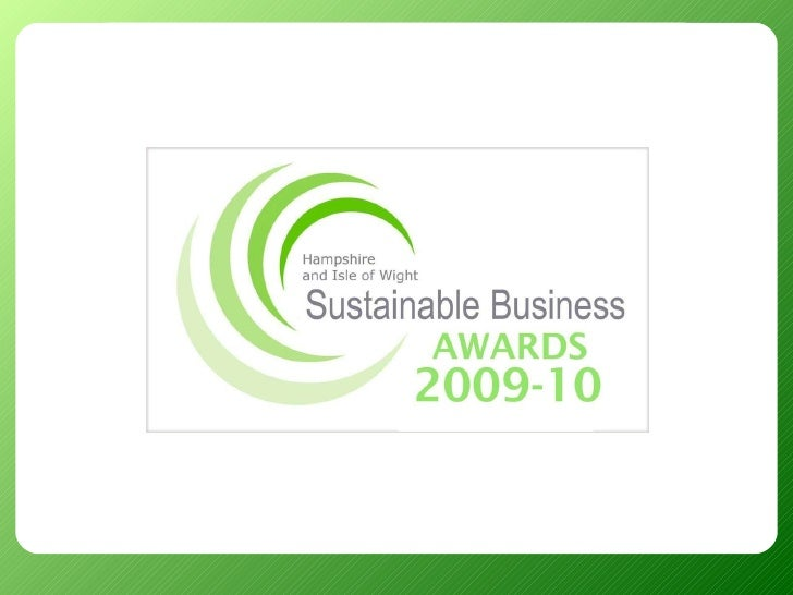 Sustainable Business Awards 2010 Finalists