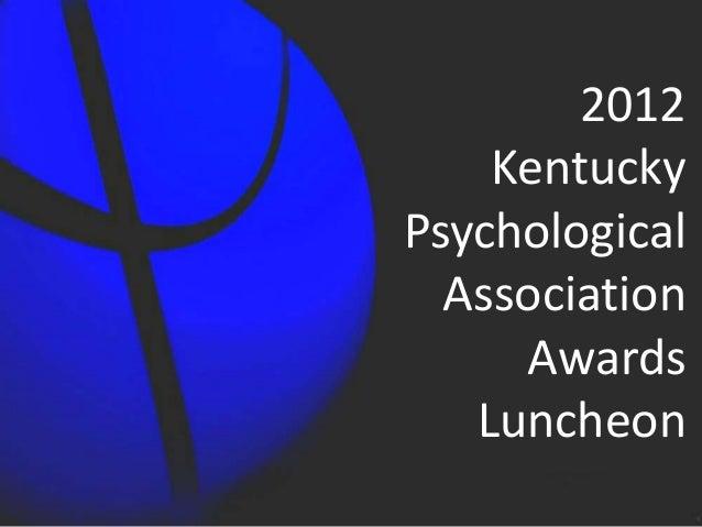 2012 Annual Awards Ceremony