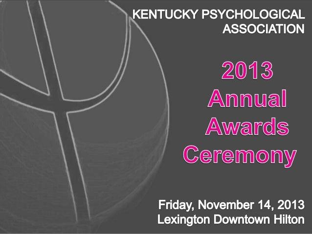 2013 KPA Awards Presentation