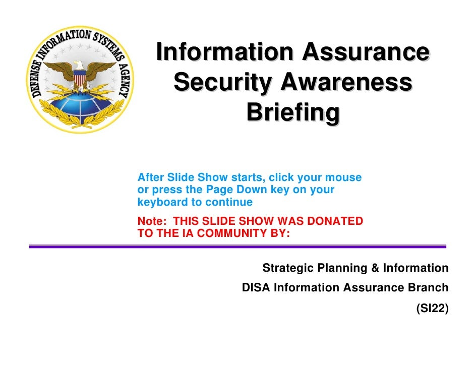 information assurance and information security