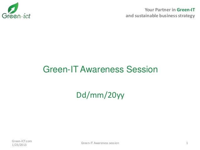 Green-IT Goverance 101