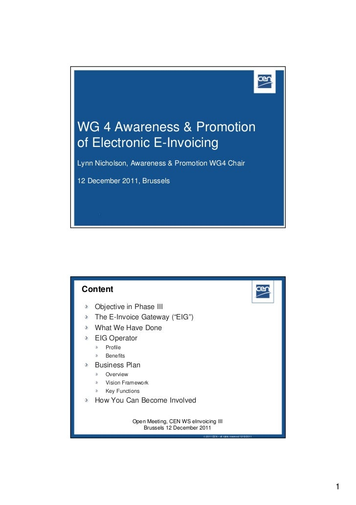 Awareness and promotion of electronic e invoicing