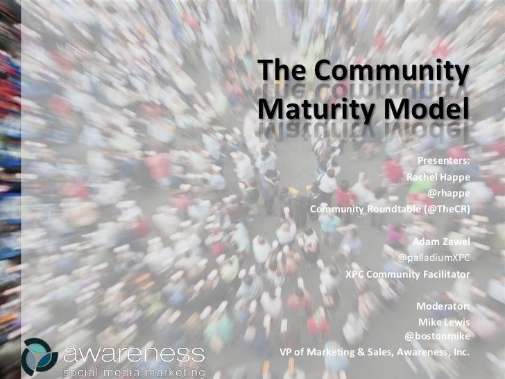 Community Maturity Model with Rachel Happe