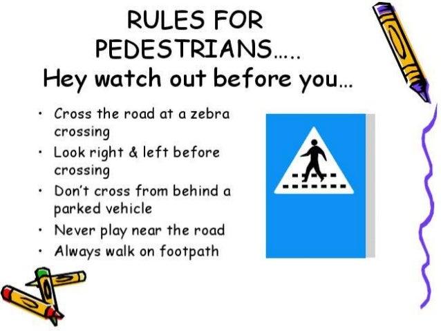 Awareness of traffic rules