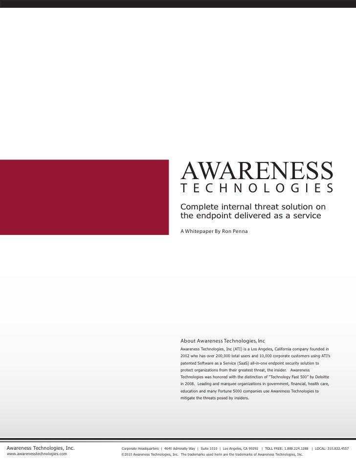 Awarenesstechnologies Intro Document