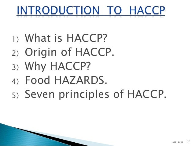 Awareness training on HACCP & ISO 22000