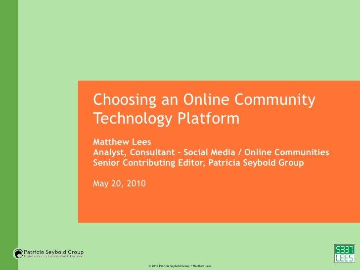 Selecting an Online Community Platform