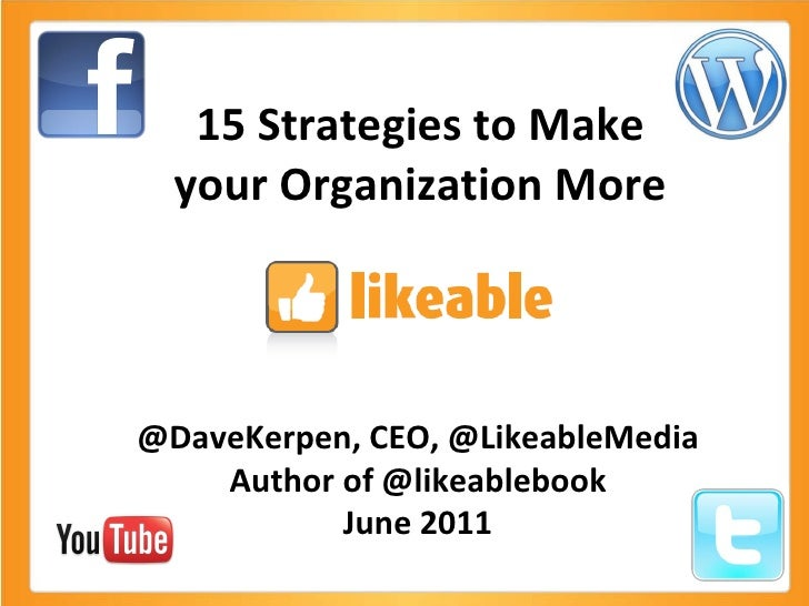 15 Strategies to Make Your Organization More Likeable