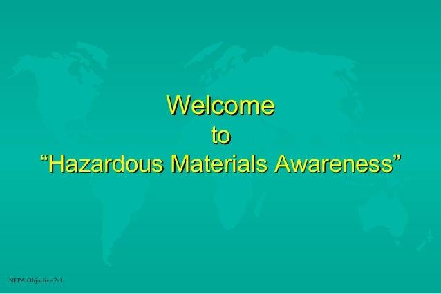 Hazardous Materials Awareness Training by