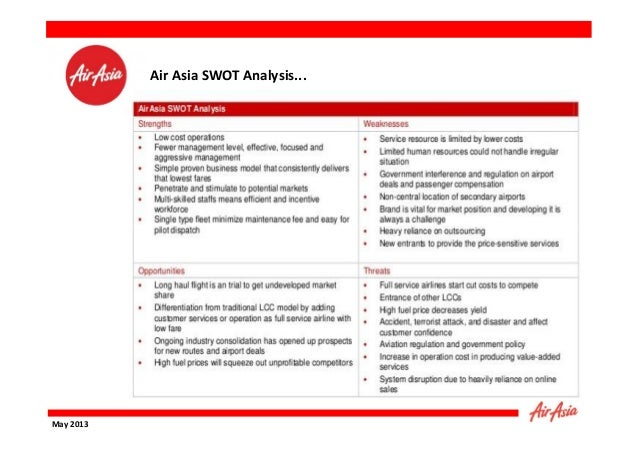air asia swot and pest analysis A pestel analysis of the aviation industry will show how deeply they  is  expected in the coming years from maturing economies like asia.