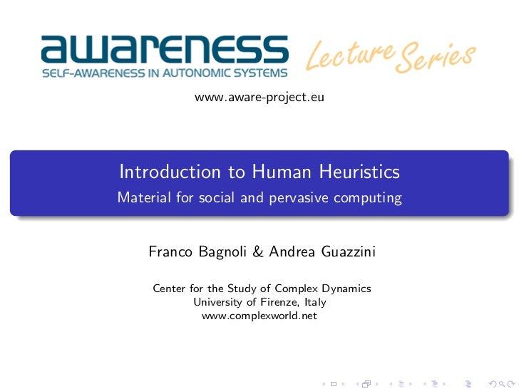 Introduction to Human Heuristics