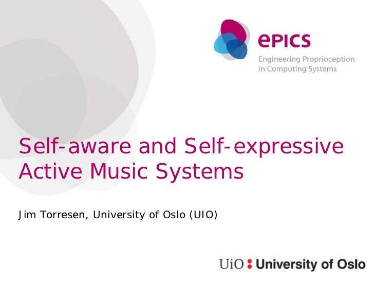 Self-aware and Self-expressive Active Music Systems