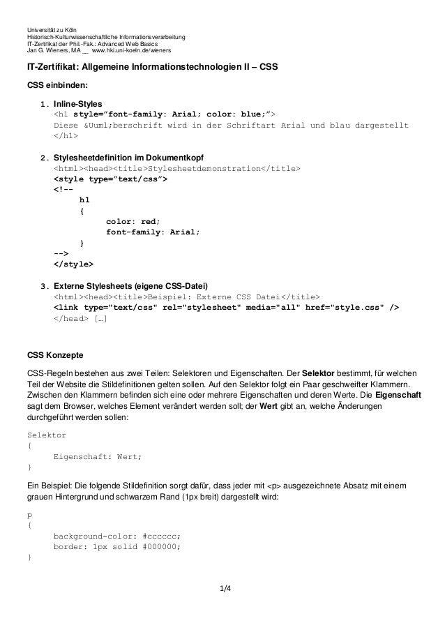 Universität zu KölnHistorisch-Kulturwissenschaftliche InformationsverarbeitungIT-Zertifikat der Phil.-Fak.: Advanced Web B...