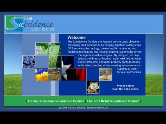 AWBD January 26th 2013 - Harris-Galveston Subsidence District