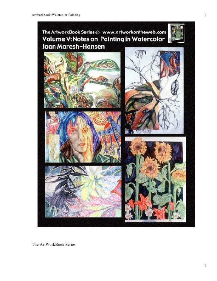 Artworkbook:Watercolor Painting   1     The ArtWorkBook Series:                                      1