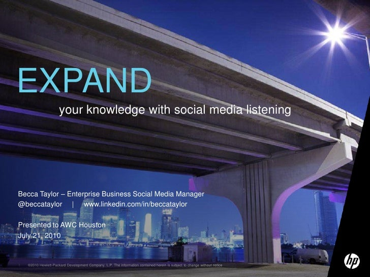 Expand your knowledge with social media listening